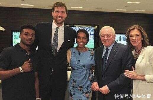诺维茨基退役享福!小12岁非洲裔妻子生3娃,2米13巨人明显长胖